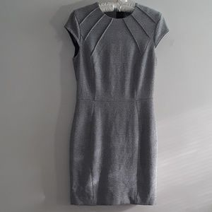 H&M Black & White Patterned Casual Career Dress 10